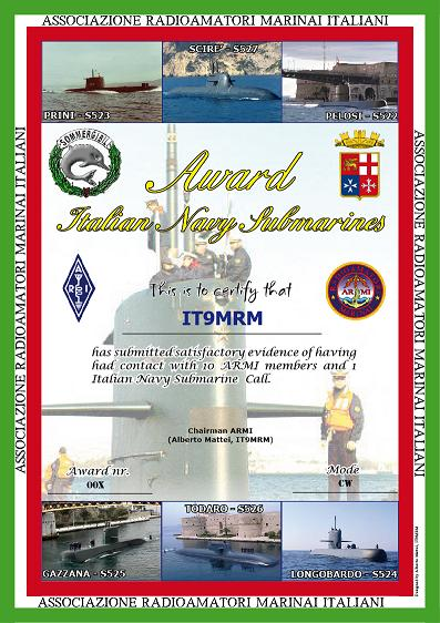 Italian Navy Submarines Award